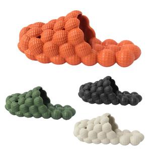 Blase Slipper Fruit Lychee orange Slides Designer-Sommer-Schuhe Abdeckung Zehe der neue kreative Strand-Schuhe Grün Schwarz Beige Schwarz