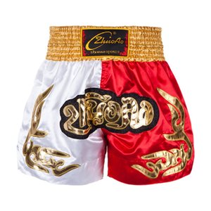 Мужские брюки Бокс Полиграфическая шорты кикбоксингу Fight единоборства Короткие Тайгер Муай тайский бокс шорты одежда саньда