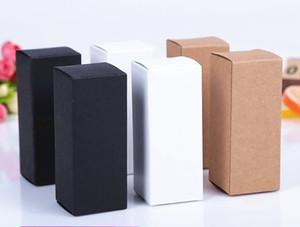 100 ml ~ 10ml del arte de Brown botella de aceite esencial del lápiz labial Paquete Caja de papel Kraft cosmética Perfumes Esmalte de uñas pequeño regalo Paquete Cajas