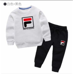2020 clothing boys and girls long-sleeved suit 2-9 years new baby infant children's clothes two-piece spring tide champion suits T225