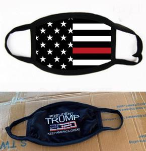 2020 Trump Máscara Elección Suministros de América Bandera de los Estados Unidos de impresión máscaras a prueba de polvo de la máscara protectora lavable Cubierta de ciclo de la boca Máscaras GGA3399-4