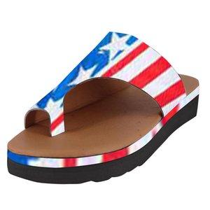Тапочки женские туфли богемной плоские дамы Slipers летний отдых тапочки причинно Женская обувь Zapatos де mujer 2019