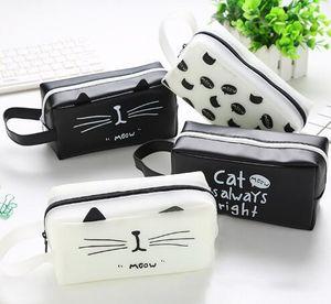 Kawaii Cute Cat Pen Карандаш сумка кремния школа Стационарный Получить инструменты для макияжа Косметика Чехол Case