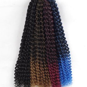 H A New Style Synthetic Crochet Braids Ombre Color Kanekalon Braiding Hair Extensions 80g  Pack 22 Roots 18 Inch