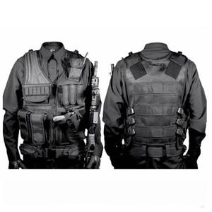 Охота охоты Tactical Vest высокого качества Nylon Airsoft War Game Открытый жилет для кемпинга Туризм с пистолетом кобура