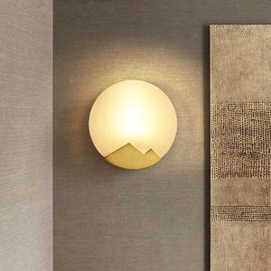 Latão Marble Wall Lamp Ferro Vintage Wall Light LED Sconce Para Quarto Corredor Sala decoração industrial Luminárias