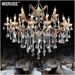 Classic Crystal Chandelier Lighting Large Cristal Lustres Light Fixture Chandelier Pendant Fitting Crystal for Hotel Project MD8662