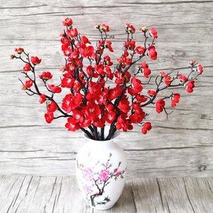 3pcs flores artificiais flor de cerejeira Decor Bridal Flowers Bouquet Seda Falso Flores Decoração do casamento DIY decorativa