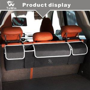 Sacchetto di immagazzinaggio del sedile posteriore dell'automobile Vestiti Cibo Garage Oggetti vari Bevanda pieghevole Grande capacità durevole Locker Auto SUV Lander Trunk Organizer
