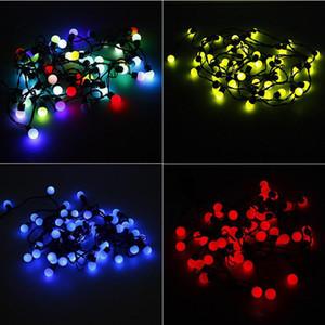 Рождество светодиодный свет на открытом воздухе 5 метров 50 светодиодные огни строки RGB шары Круглые светильники водонепроницаемый для сада Свадебные рождественские украшения огни