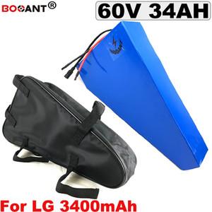 Trio Bateria De Lítio 34AH 60 60 pour LG 18650 v Bateria Bicicleta Elétrica 1500 w 2500 w E -Bateria de Lítio bicicleta 60 v
