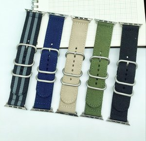 Nylon Canvas Fabric Sport Smart Watchband 22mm 24mm Quality Nylon Watch band For Apple Watch band 38mm 42mm Nato Strap