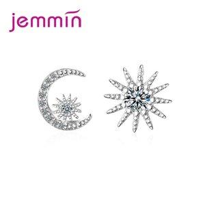 JEMMIN 절묘한 스터드 귀걸이 럭셔리 챠밍 스터드 귀걸이 925 스털링 실버 CZ 클리어 크리스탈 고품질의 인기있는 여자 선물