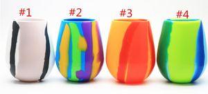 New Camouflage Silikonkautschuk Weinglas 12oz Bierglas Faltbare Silikon Stemless Cup Drinkware Kaffeetasse