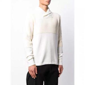 2020 euro americanos los puentes de la calle mens suéteres estilo retro clásico brazo OEM bordado compás del brazal de la bufanda de cuello del suéter retro