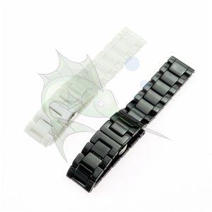 Cinturino orologio in ceramica nera bianca cinturino cinturino in pelle 14 15 16 17 18 19 20 21 22 mm cinturino dell'orologio Ceramica