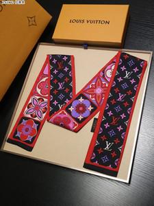 Ms падение 2020 нового высококачественных многоцелевого шелковых шарфов Joker письма оголовье Европы и горячего стиль классического стиля галстук Соединенных Штатов Америки