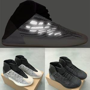 2020 Quantum scarpe da ginnastica tripla nero riflettente scarpe da basket Kanye West uomini donne stilista di moda con la mascherina US 5-12,5