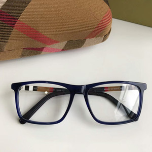 Wholesale- BE2283 kurzer rechteckiger unisex Glasrahmen 54-17-140 Plaid-Designer für eine Brille rein Planke fullset Fall