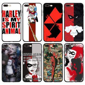 Für Iphone 11 Pro Xs Max Xr Telefon Fall Suicide Squad Female Clown 6 7 8 X Plus Schwarz Soft Cell Phone Cases