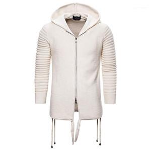 Gilet à capuche Pull personnalité Casual Bind hommes Vêtements rayé lambrissé Hommes Pulls Designer Fashion Slim Mens Zipper