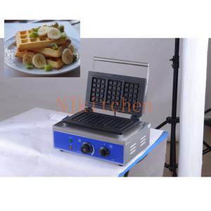 Acier inoxydable anti-adhésive Belgique gaufre de Liège Making Machine Eletric oeuf Waffle gâteau de pain Baker Fer Four 110V 220V