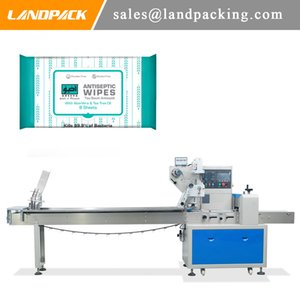Automatic Wipes Horizontal Flow Wrap Machine Cosmetic Paper Towel Packaging Machine