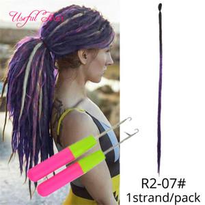 дредов наращивание волос Dreadlock искусственную LOCs вязания крючком волос оплетка Боб Марли синтетическое плетение наращивание волос коллекция Дженет Dread LOCS