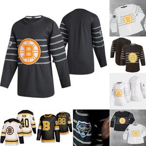 2020 All-Star David Pastrňák Jersey di Bruins di Boston Zdeno Chara Tuukka Rask Brad Marchand Patrice Bergeron David Backes David Krejci Maglie