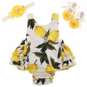 Floral New Born infantil roupa do bebê da menina Set Fotografia de Verão; bebé de algodão recém-nascido Roupa Romper com alça Sapatos 3pcs