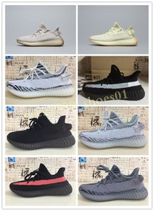 Men Women Shoes Kanye West Runner Running Sneakers White Cloud Hyperspace Glow Zebra Reflective Static Basketball Trainers US13 WB04