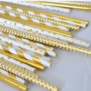 الشحن مجانا 500 قطع ورقة القش مي الذهب احباط الصلبة و مخطط ورقة القش الذهبي عيد ميلاد لوازم الذهب الذكرى القش