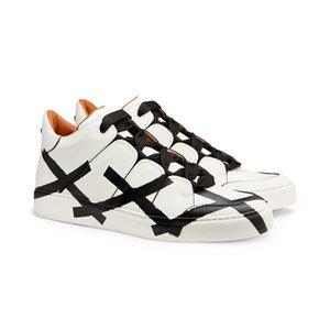 Caliente venta-ginal superior marca italiana EZ lienzo diseñador de moda moda casual zapatos de los hombres