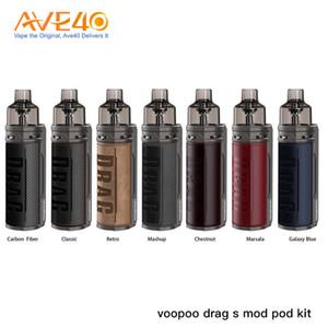 DRAG originale Voopoo S Kit Pod Powered by 2500mAh batterie intégrée 4.5ml DRAG S Cartouches Vape