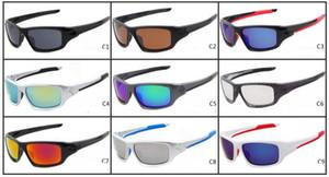 جديد الصيف الدراجات ماركة الرياضة الإبهار النظارات الأزياء نظارات النساء الرجال نظارات طلاء عاكس نظارات الشمس 9 ألوان 2072
