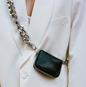 sac de poitrine croix monnaie poches chaîne épais sac Kara mode diagonale ins super feu mini-cuir petit sac A69 femme