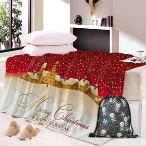 Dropship Flannel Fleece Fabric Blanket Christmas Gift New Year Gift Soft Warm Decoration Bedroom Home Textile