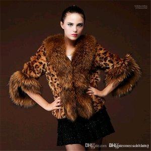 Raccoon Grosso outerwear casual manga comprida Mulheres Roupa Mulheres Desigenr Faux Fur Coats inverno espessamento das senhoras quentes