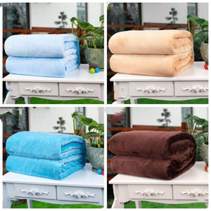 Soft Warm Pets Blanket Dog Flannel Blankets Puppy Solid Color Bed Blankets Sleeping Cushion Rest Mat Dog Supplies LXL841Q