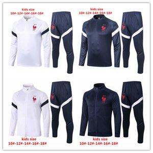 2020 Frence veste nationale des enfants de l'équipe Mbappé garçons Pogba Maillot de foot Survêtement kits enfants de soccer enfants Giroud Griezmann costume formation