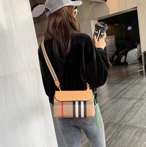 Burbery one-spalla borsa delle donne 2020 nuovo a righe di colore di contrasto delle donne casuali di Modo Del Sacchetto Netto rosso marea One-spalla diagonale cros