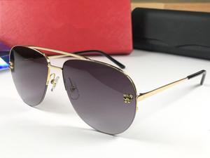 Nuevas gafas de sol de diseño de lujo 0065 gafas de media montura de estilo vanguardista Mejor calidad Más vendidas Gafas UV400 Protección con estuche