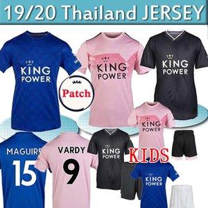 19 20 maillot de football Leicester 2019 2020 MAGUIRE VARDY chemise CITY VARDY MADDISON TIELEMANS camiseta de Fútbol hommes + enfants kit uniforme thaïlande