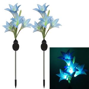 Lily LED Solar Lanterna da borboleta Lawn Luzes Xenon luz colorida Ligue Luz impermeável ao ar livre Luzes Jardim