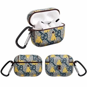 For Airpods pro case Pouch Designer bee Branding Bluetooth Air Pods 3 Cover Protective Earphone Case shockproof Anti Lost A01