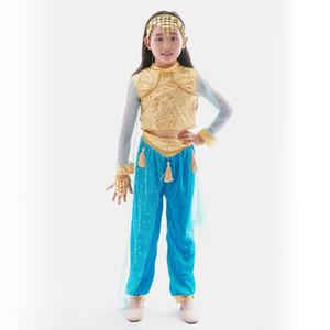 Bambini costumi di usura delle ragazze di danza del ventre costumi nuova nazionale Fantasy Cosplay film Carnival Party Purim Halloween