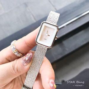 Новая мода лучший горячий продавать женщин Аналоговые кварцевые часы досуга Роскошные наручные часы из нержавеющей стали леди платье партия элегантный часы падения Shippin