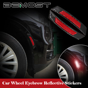 BEMOST السيارات عاكس تحذير قطاع عجلة حافة الحاجب واقية ملصقات السلامة ضوء التصميم لحانا CS35 CS75 ستار لايت