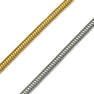폭 3mm 스테인레스 스틸 평면 목걸이 골드와 실버 컬러 방수 엷은 껍질 뱀 체인 남성 선물 보석 망 목걸이