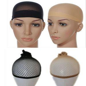 Cabelo malha Cap peruca de cabelo Nets peruca Liner Hairnet Baixada Glueless Dome Cap peruca Esticável elástica cabelo Net TT001 ty